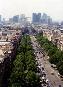 The Champs Elysée from the Arc de Triomphe
