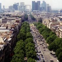 The Champs Elysée from the Arc de Triomphe
