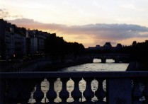 Sunset over the River Seine
