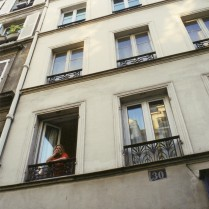 The window of our apartment on rue Saint-Paul.