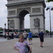 Megan at the Arc de Triomphe
