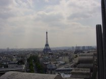 The Eiffel Tower as seen from the Arc de Triomphe