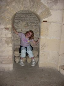 Megan in the frigidarium of the Cluny Museum