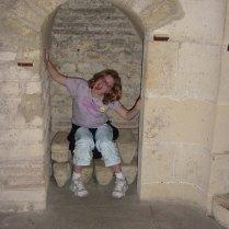 Megan in the frigidarium of the Cluny Museum