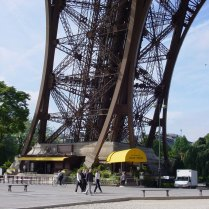 The foot of the Eiffel Tower