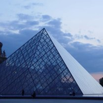 There's nothing like biking around the Louvre at night!