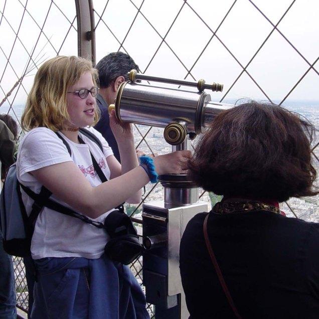 Megan get's an Eiffel Tower View of Paris
