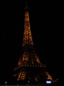 Megan's photo of the Eiffel Tower by night
