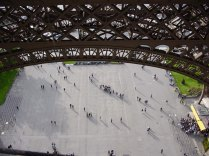 Looking down from the Eiffel Tower