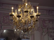A chandelier at the Museum of Paris