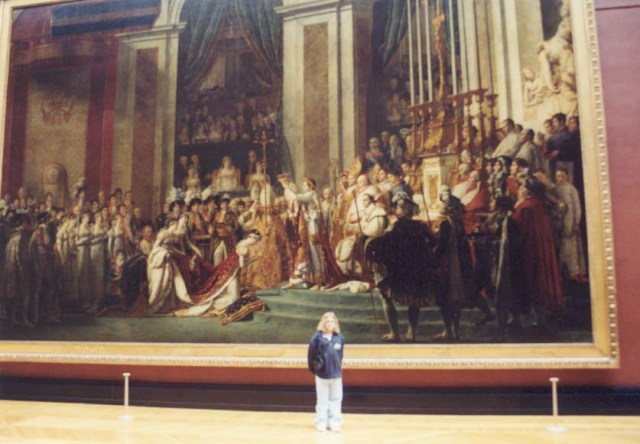 The Louvre has REALLY big paintings!