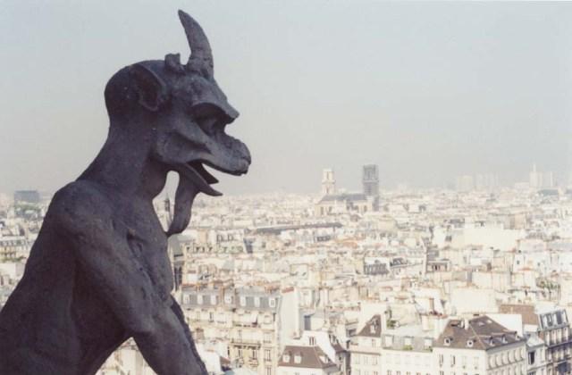 A gargoyle at Notre Dame