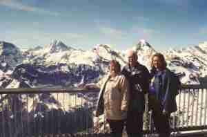The Three of Us at Piz Gloria on the Schilthorn
